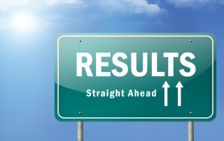 "Highway Sign ""Results - Straight Ahead"""